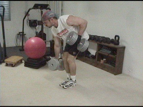 Alternating Dumbell Rows to Hit Your Back AND Core...