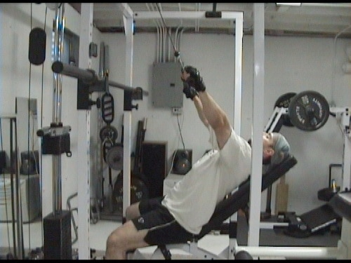 Incline Bench Pulldowns For Upper Back, Shoulders and Improving Posture