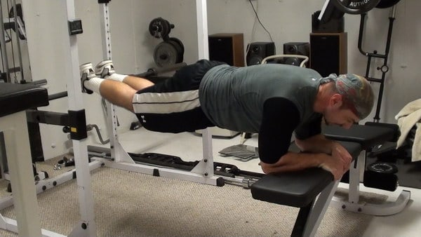 Barbell-Bench Transition Planks for Core Strength, Dynamic Stability...and a Tighter, Flatter Stomach!