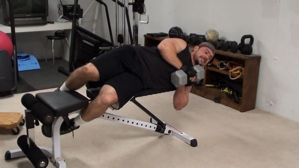 Side-Lying Dumbell Pallof Press (no cables required)