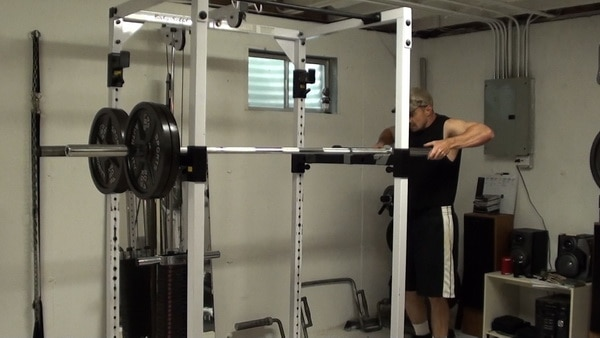 Two Barbell Dips in the Power Rack